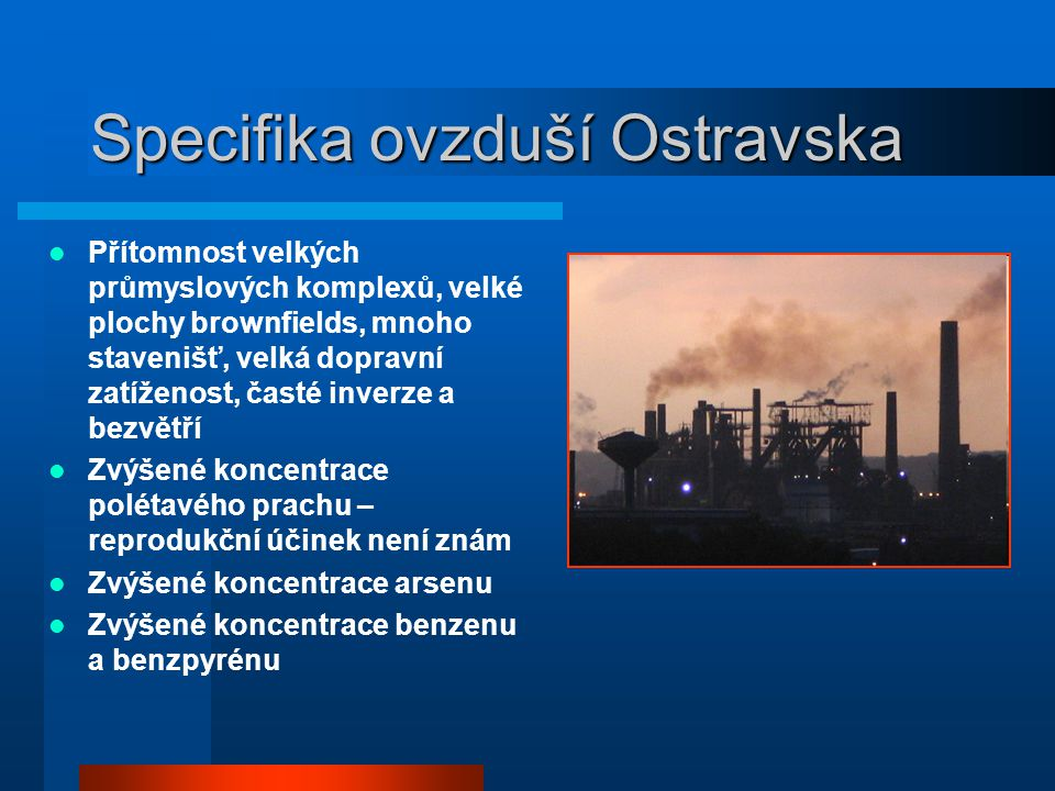 Specifika ovzduší Ostravska