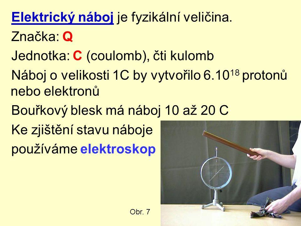 Elektrický náboj je fyzikální veličina