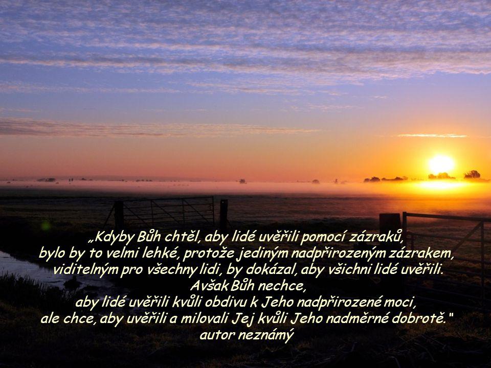 """""""Kdyby Bůh chtěl, aby lidé uvěřili pomocí zázraků,"""