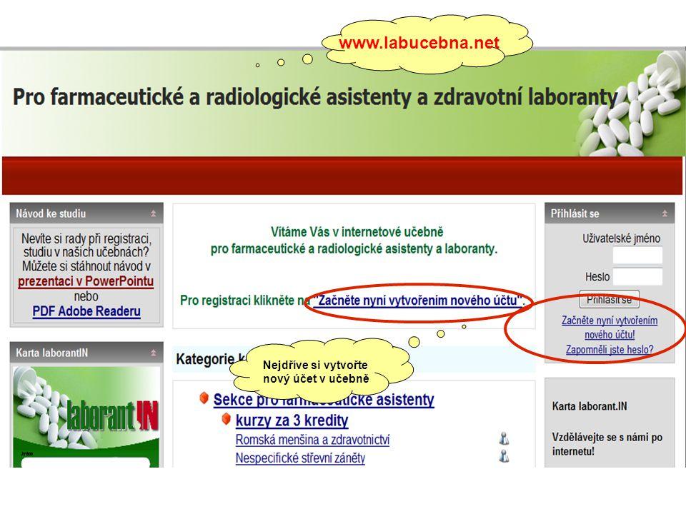 www.labucebna.net Nejdříve si vytvořte nový účet v učebně