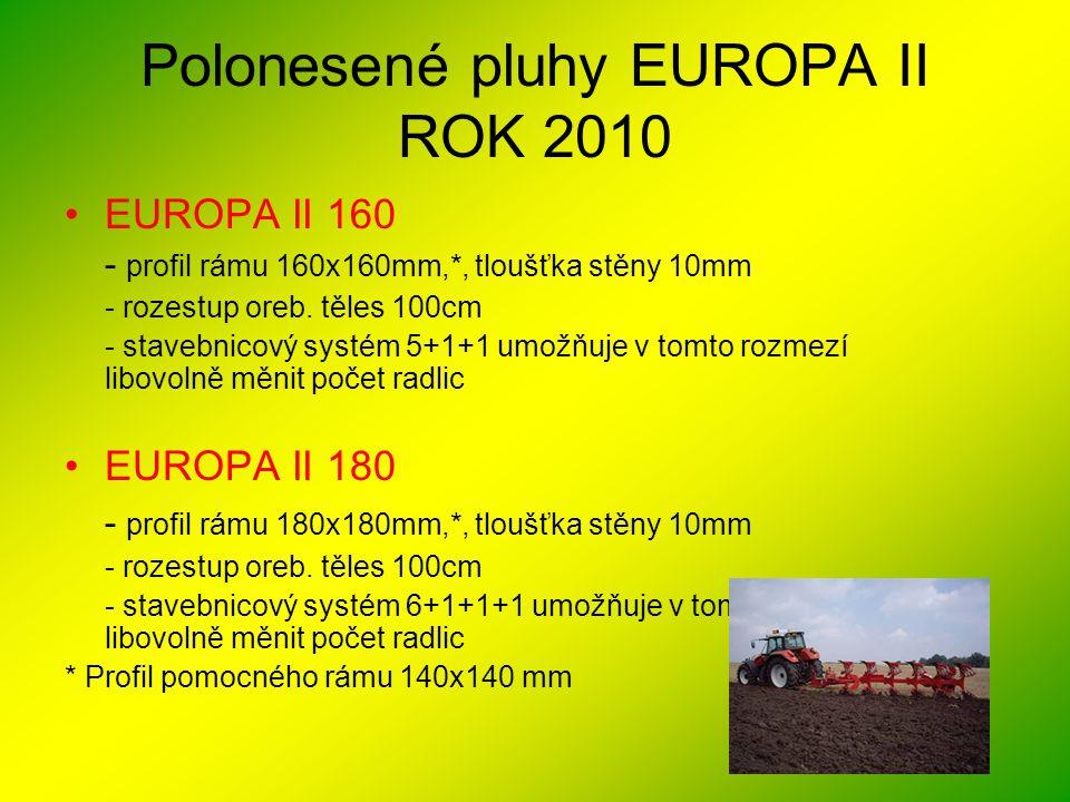 Polonesené pluhy EUROPA II ROK 2010
