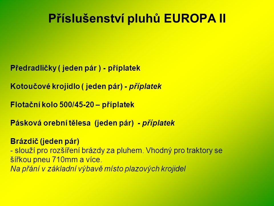 Příslušenství pluhů EUROPA II