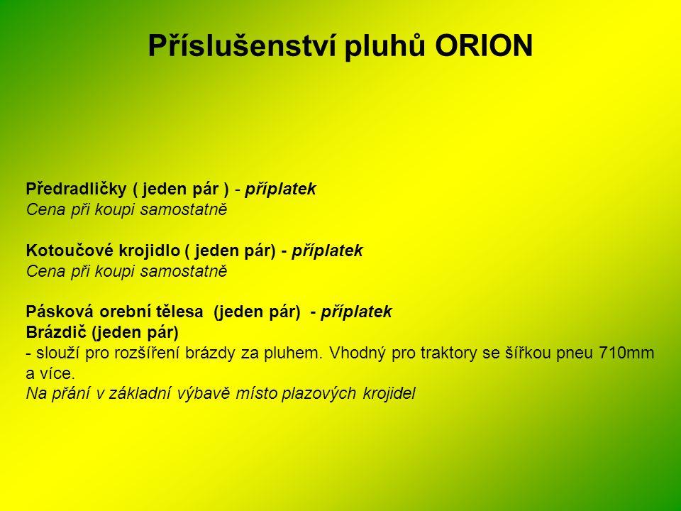 Příslušenství pluhů ORION