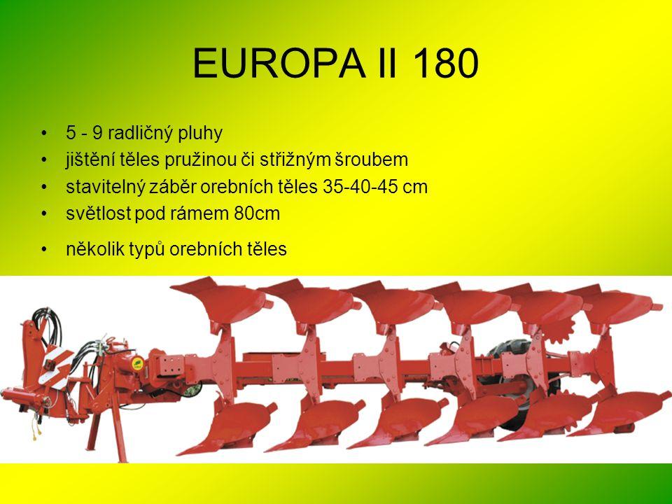 EUROPA II 180 5 - 9 radličný pluhy
