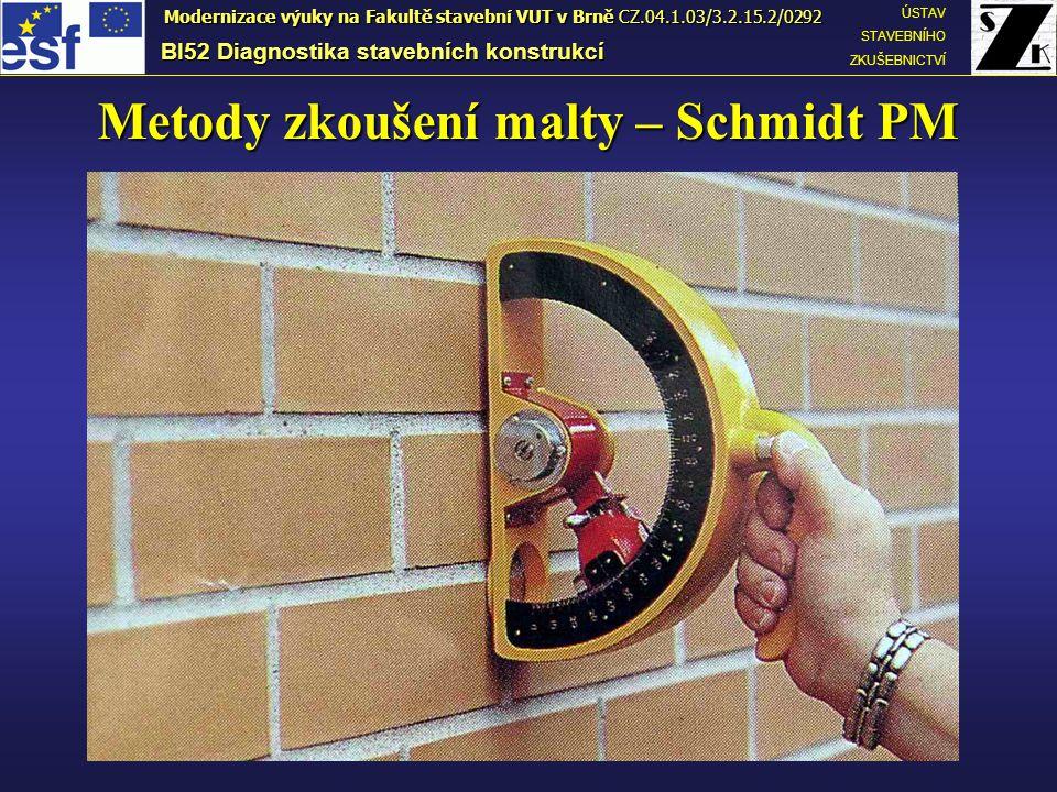 Metody zkoušení malty – Schmidt PM