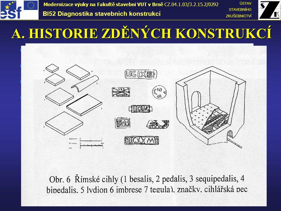 A. HISTORIE ZDĚNÝCH KONSTRUKCÍ