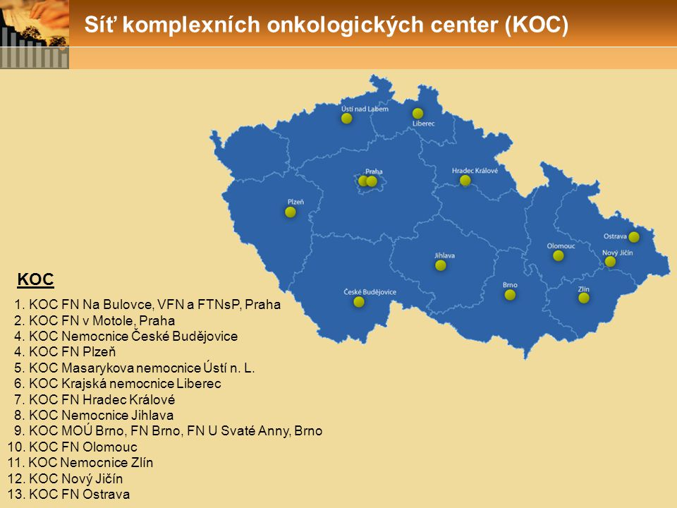 Síť komplexních onkologických center (KOC)