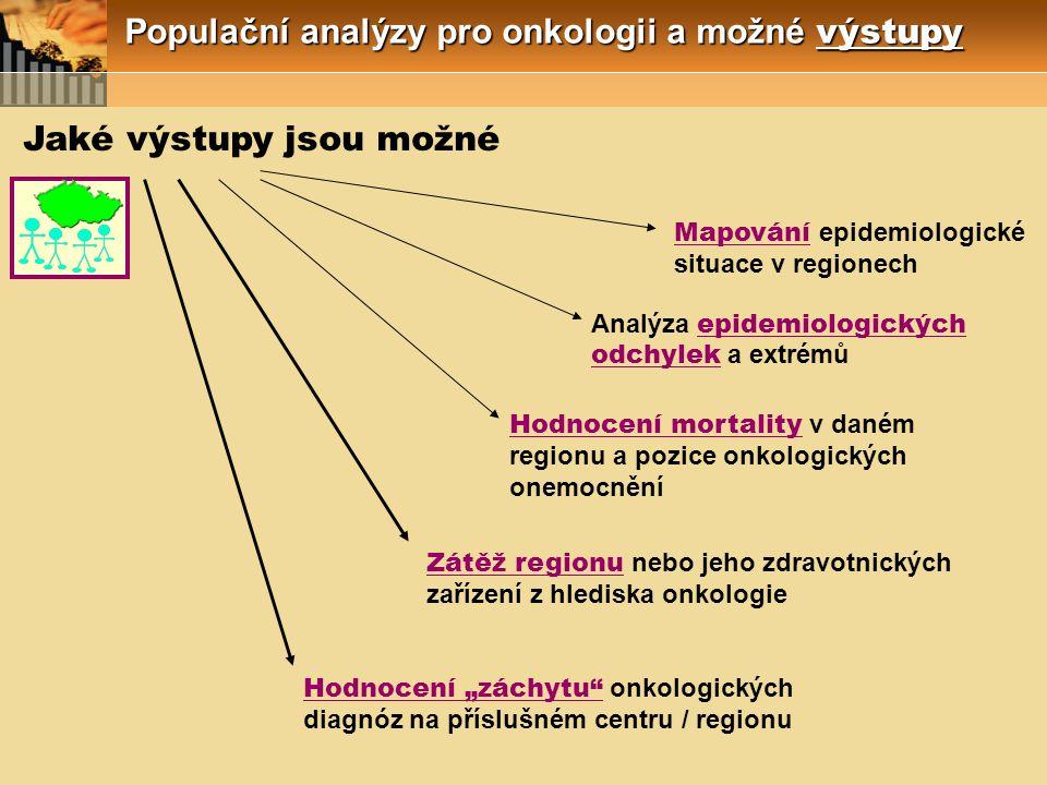 Populační analýzy pro onkologii a možné výstupy