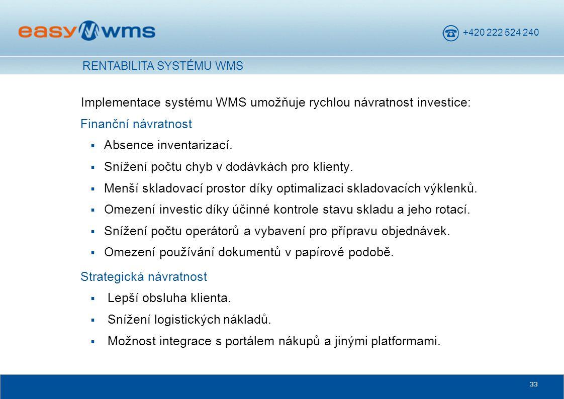 Implementace systému WMS umožňuje rychlou návratnost investice: