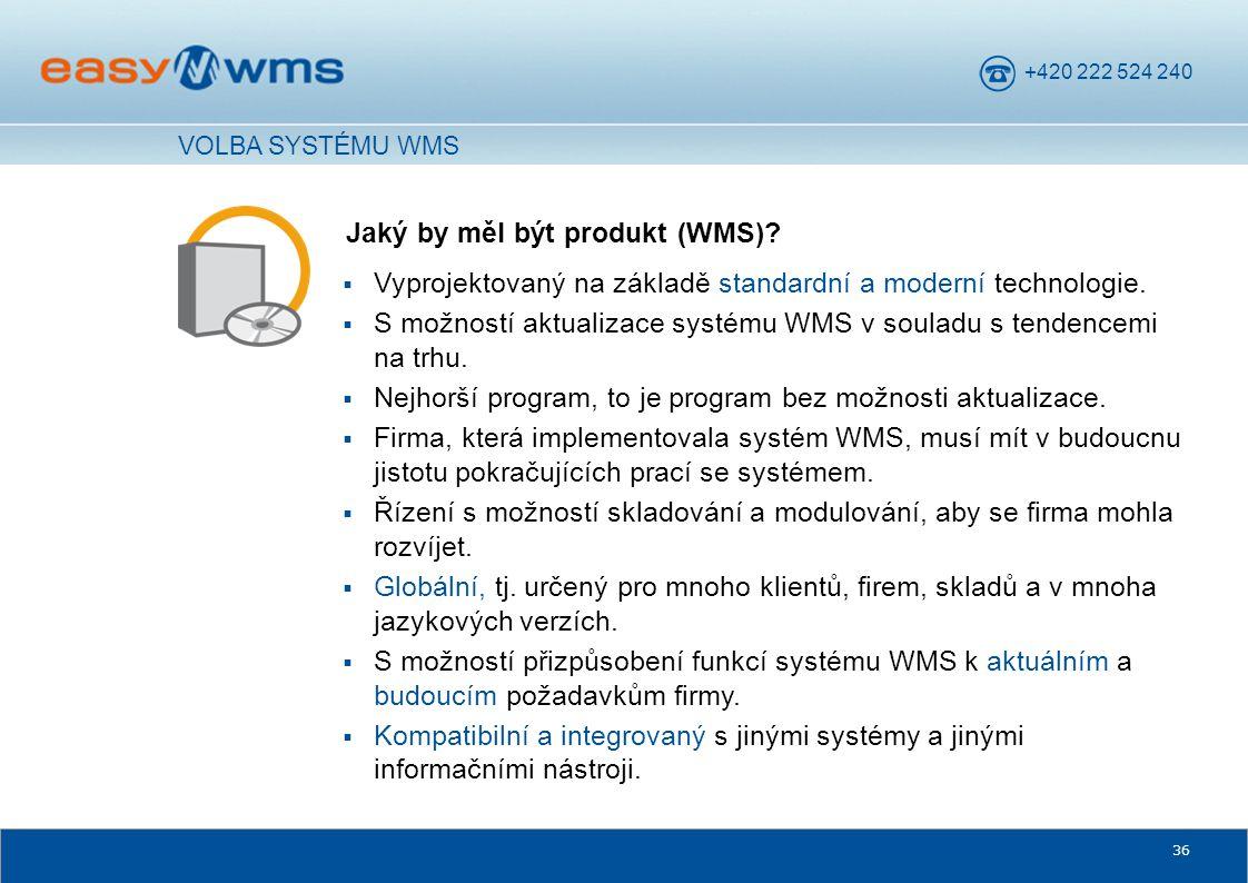 Jaký by měl být produkt (WMS)