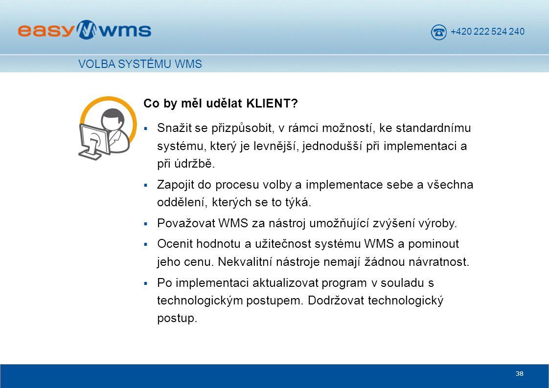 Považovat WMS za nástroj umožňující zvýšení výroby.