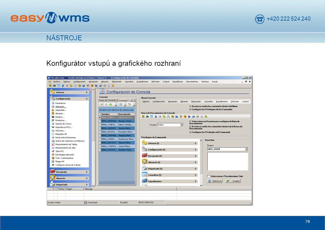 Konfigurátor vstupů a grafického rozhraní