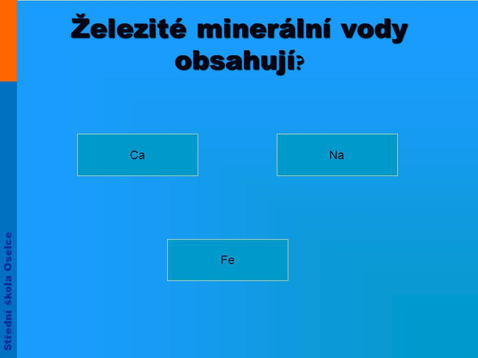 Železité minerální vody obsahují
