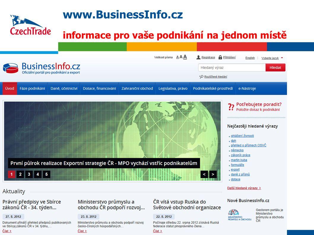 www.BusinessInfo.cz informace pro vaše podnikání na jednom místě