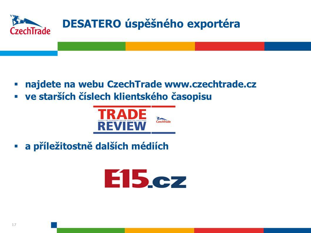 DESATERO úspěšného exportéra