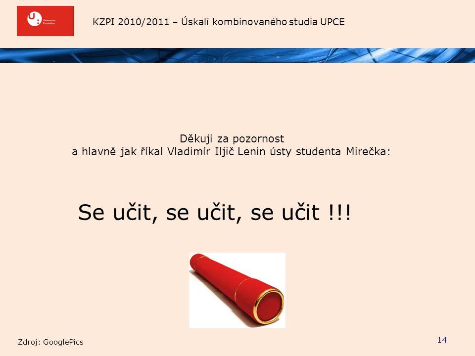 a hlavně jak říkal Vladimír Iljič Lenin ústy studenta Mirečka: