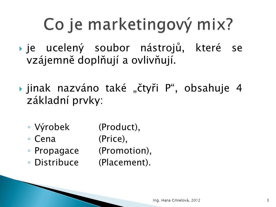 Co je marketingový mix je ucelený soubor nástrojů, které se vzájemně doplňují a ovlivňují.