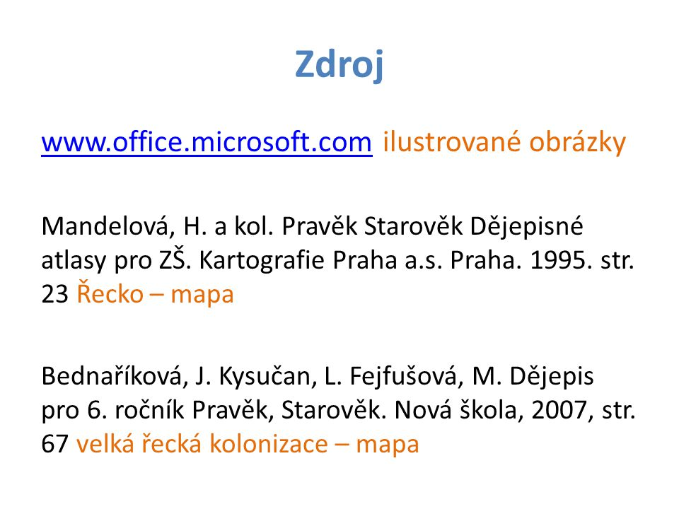 Zdroj www.office.microsoft.com ilustrované obrázky