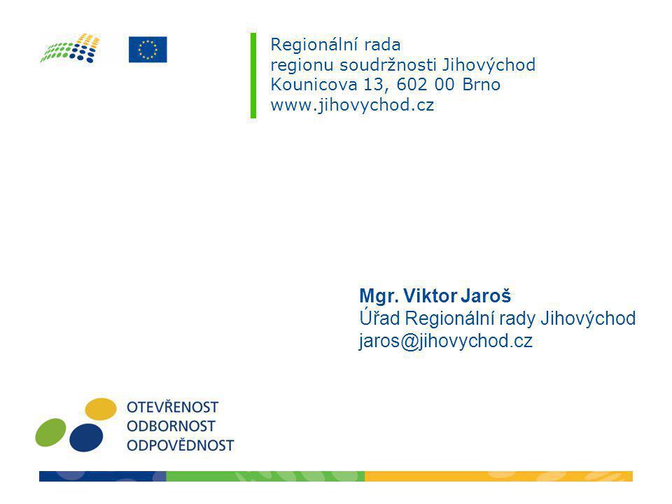 Úřad Regionální rady Jihovýchod jaros@jihovychod.cz