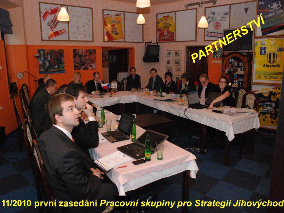 PARTNERSTVÍ Jednání Pracovní skupiny pro Strategii JV se řídí Statutem a jednacím řádem, od listopadu 2010 do dnešního dne zasedala celkem 17x.