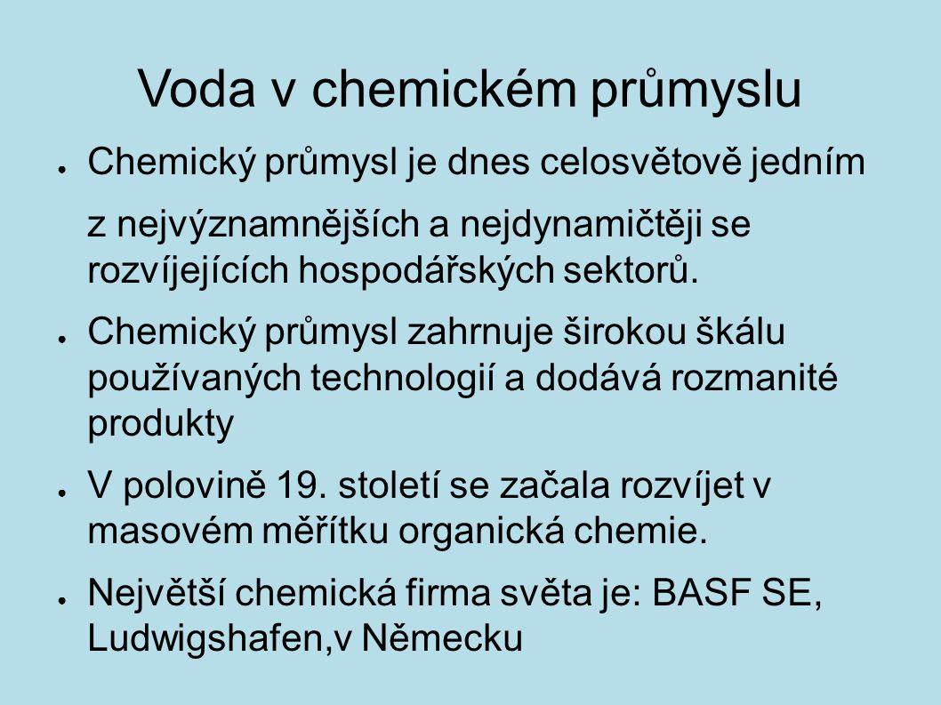 Voda v chemickém průmyslu