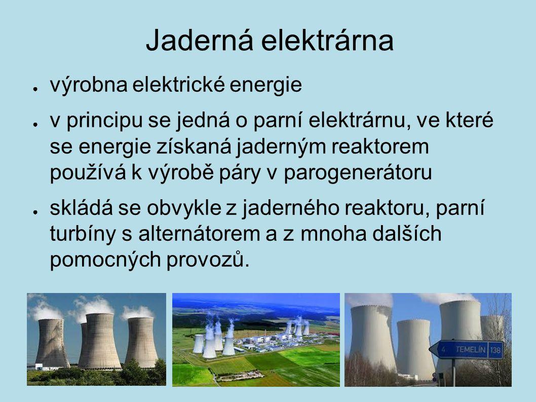 Jaderná elektrárna výrobna elektrické energie