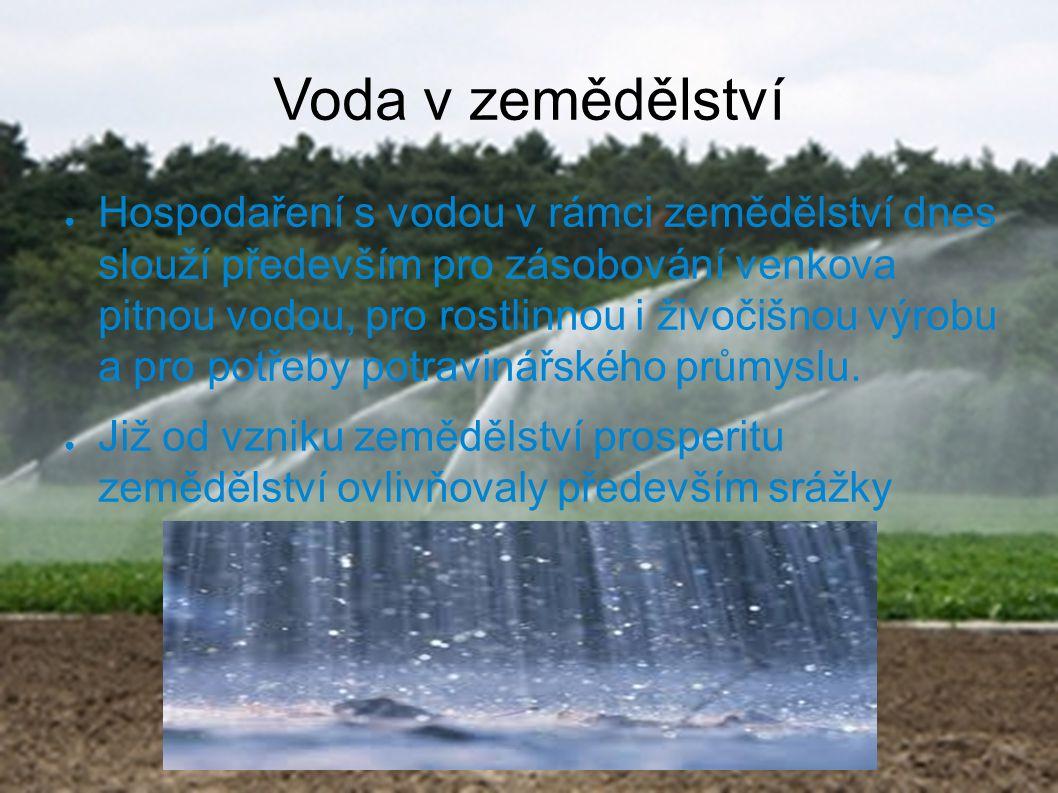 Voda v zemědělství
