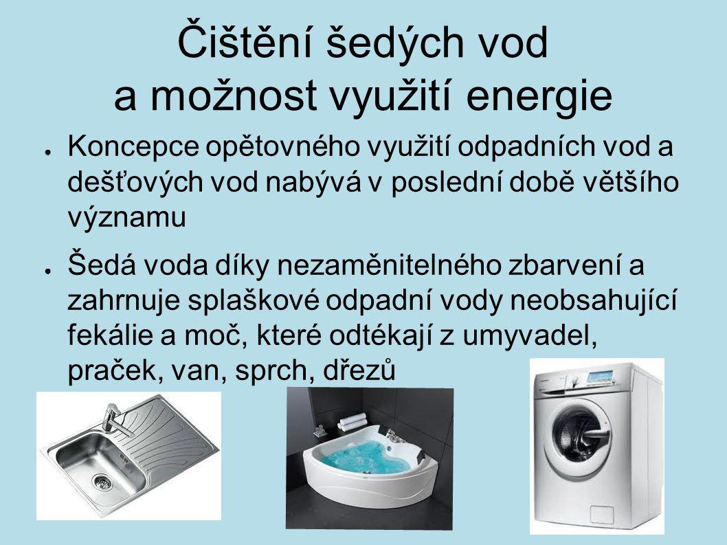 Čištění šedých vod a možnost využití energie