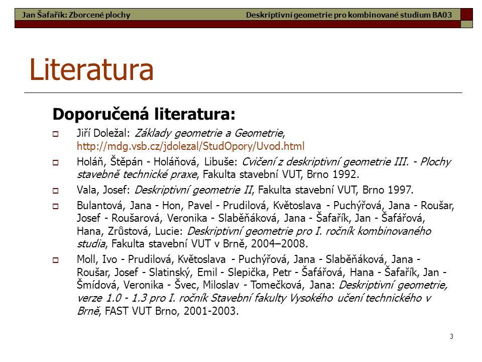 Literatura Doporučená literatura: