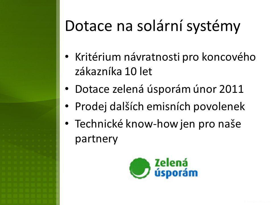 Dotace na solární systémy