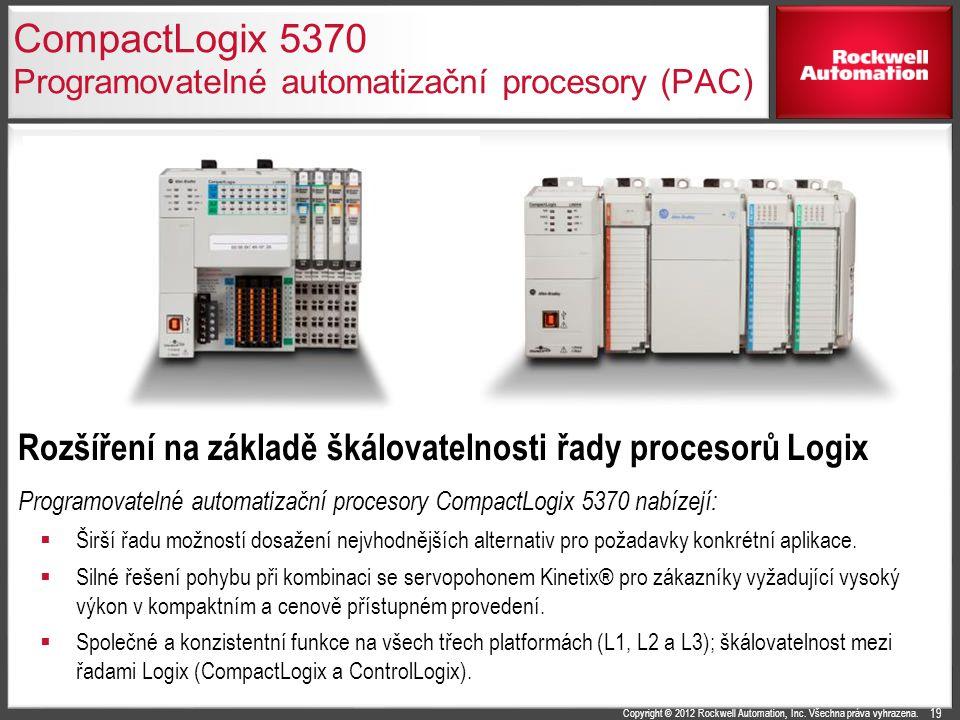 CompactLogix 5370 Programovatelné automatizační procesory (PAC)