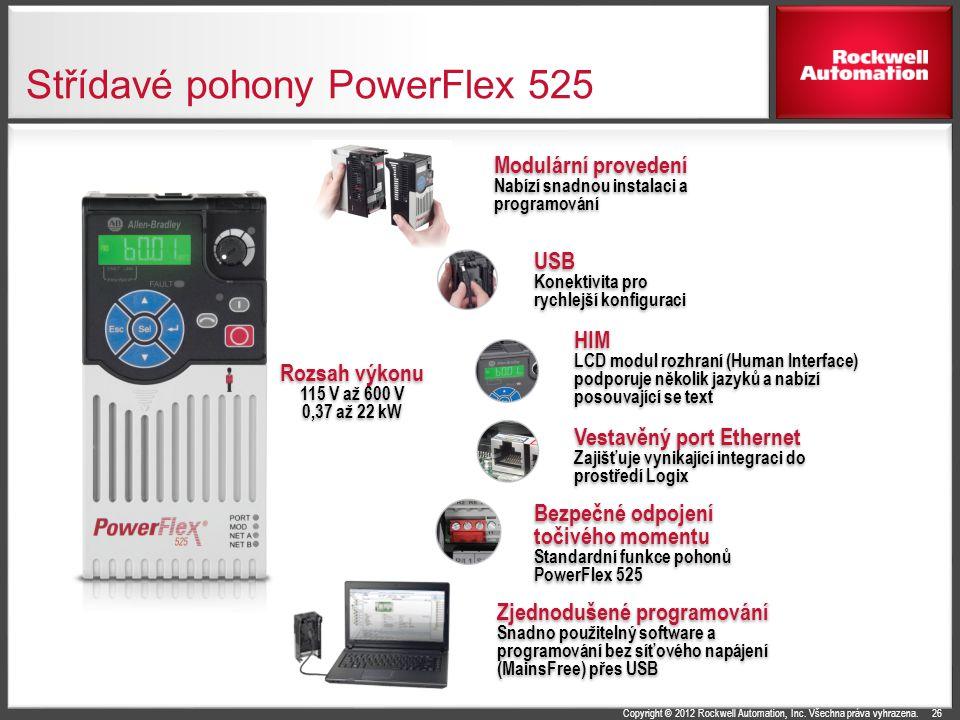 Střídavé pohony PowerFlex 525