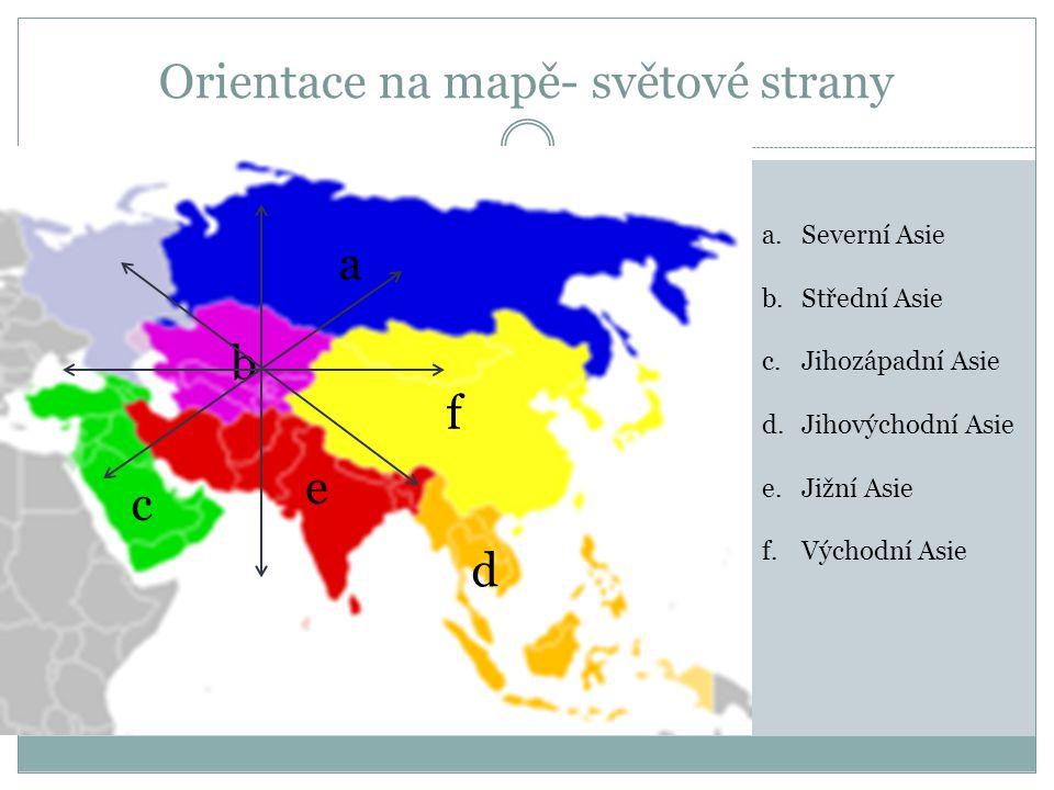 Orientace na mapě- světové strany