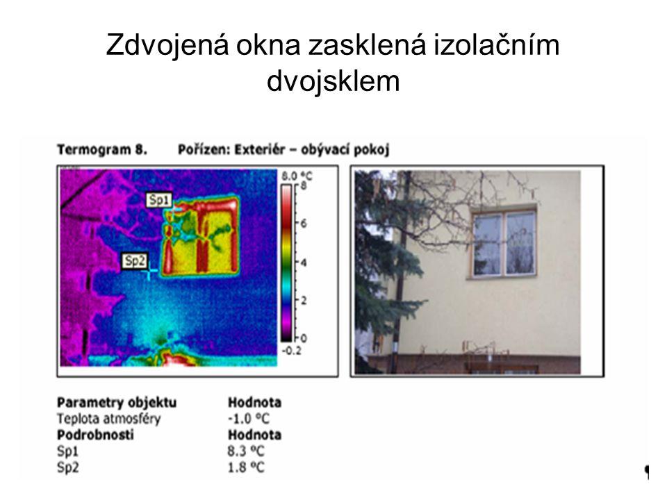 Zdvojená okna zasklená izolačním dvojsklem