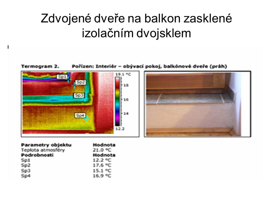 Zdvojené dveře na balkon zasklené izolačním dvojsklem