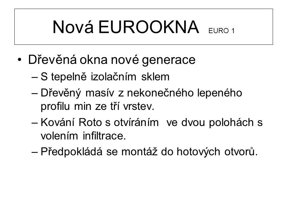Nová EUROOKNA EURO 1 Dřevěná okna nové generace
