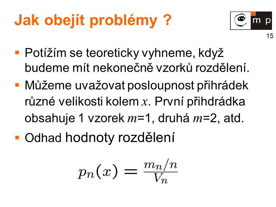 Jak obejít problémy Potížím se teoreticky vyhneme, když budeme mít nekonečně vzorků rozdělení.
