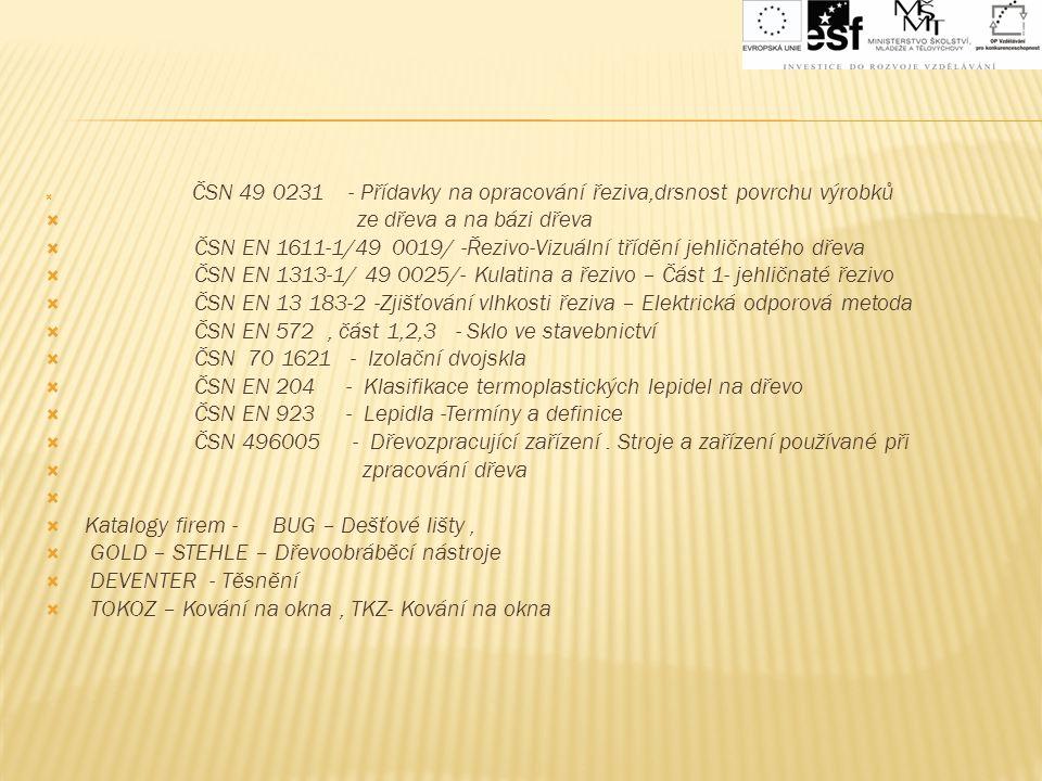ČSN EN 1611-1/49 0019/ -Řezivo-Vizuální třídění jehličnatého dřeva