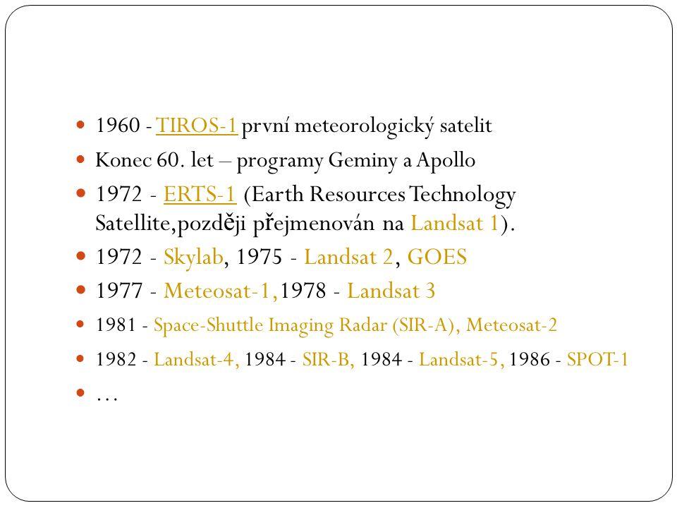 1960 - TIROS-1 první meteorologický satelit