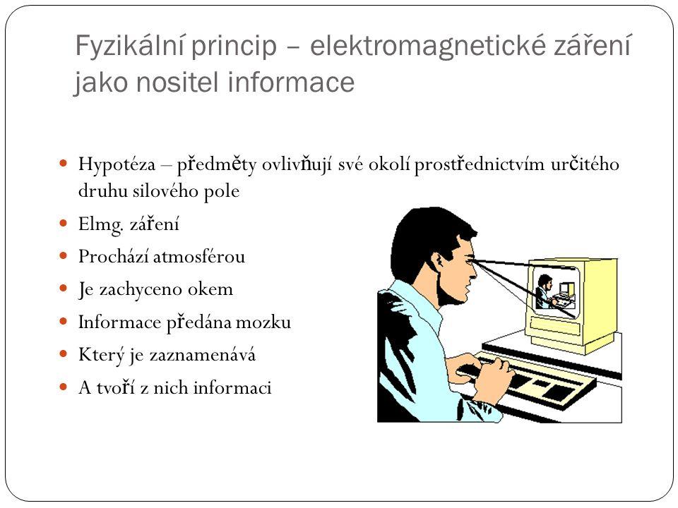Fyzikální princip – elektromagnetické záření jako nositel informace