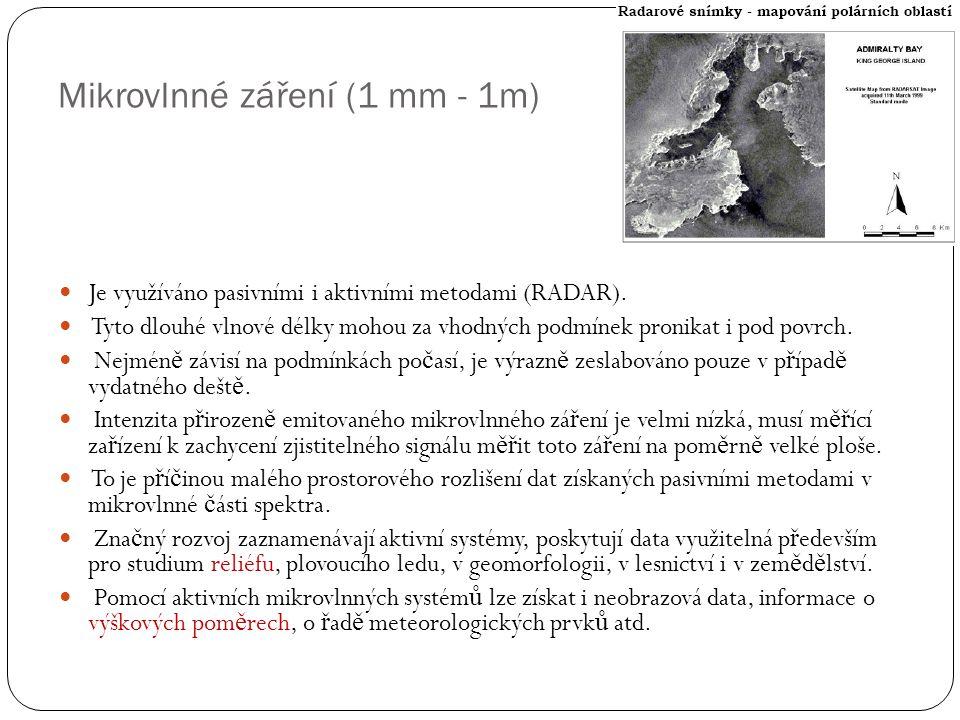 Mikrovlnné záření (1 mm - 1m)