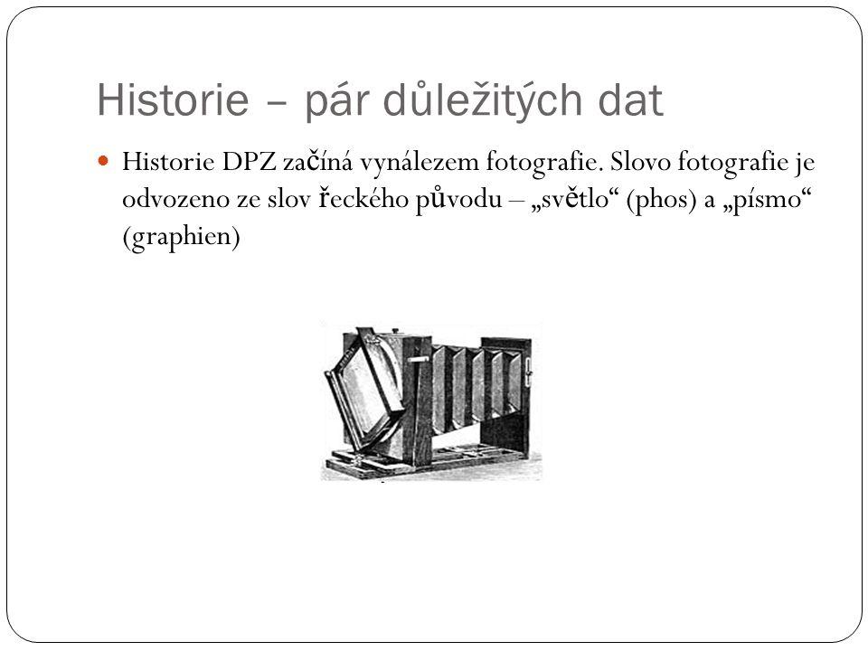 Historie – pár důležitých dat