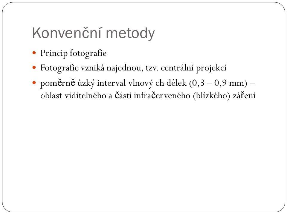 Konvenční metody Princip fotografie