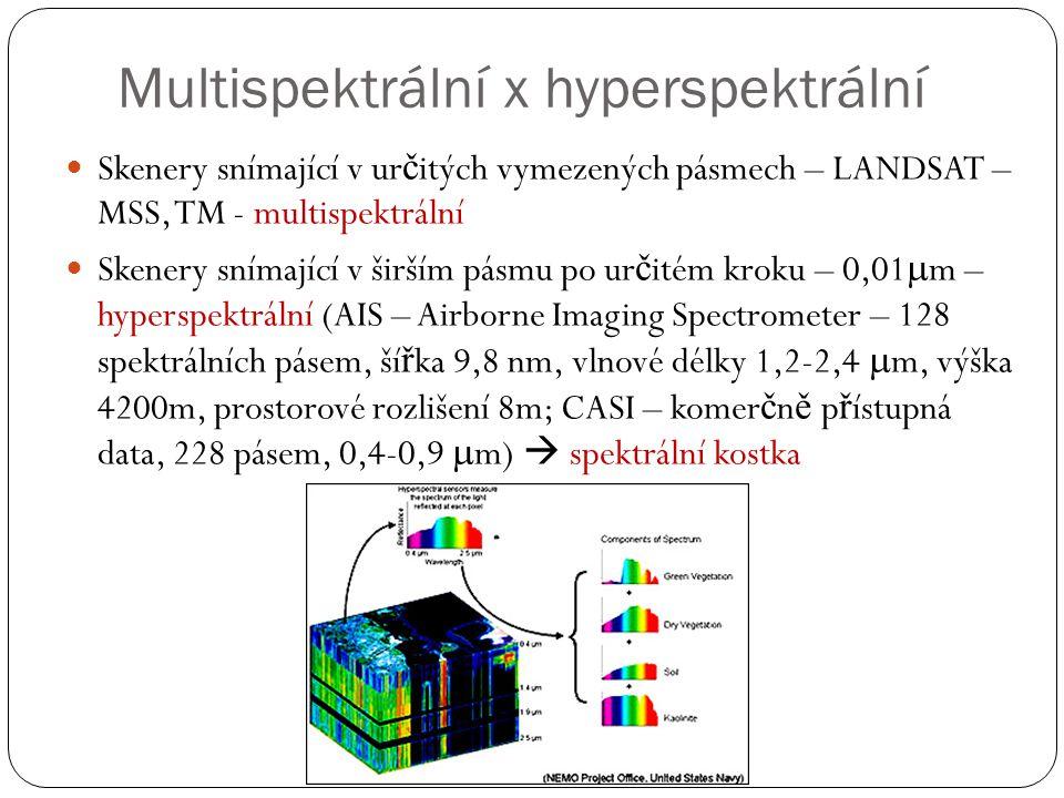 Multispektrální x hyperspektrální