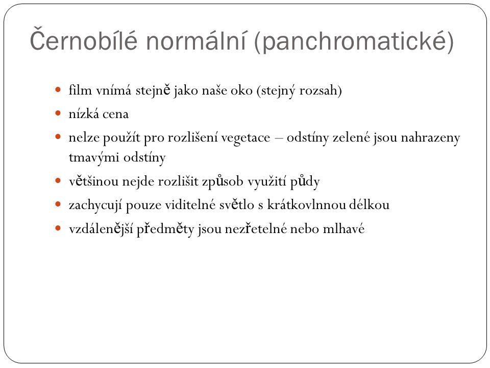 Černobílé normální (panchromatické)