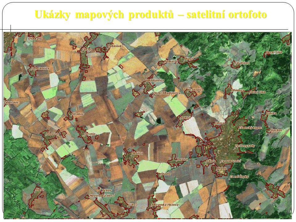 Ukázky mapových produktů – satelitní ortofoto