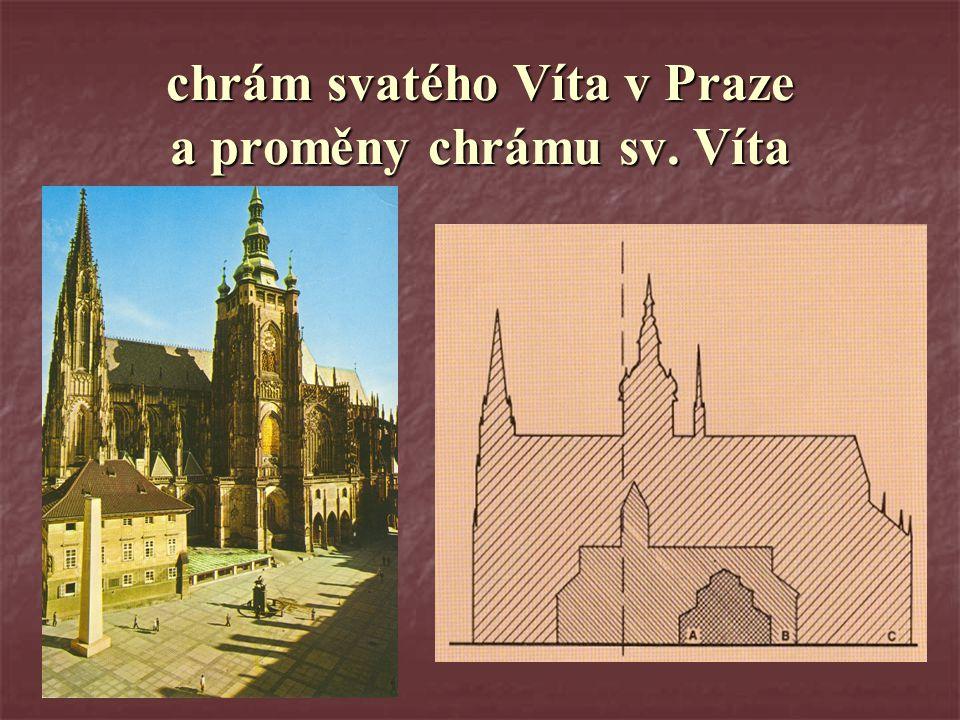 chrám svatého Víta v Praze a proměny chrámu sv. Víta