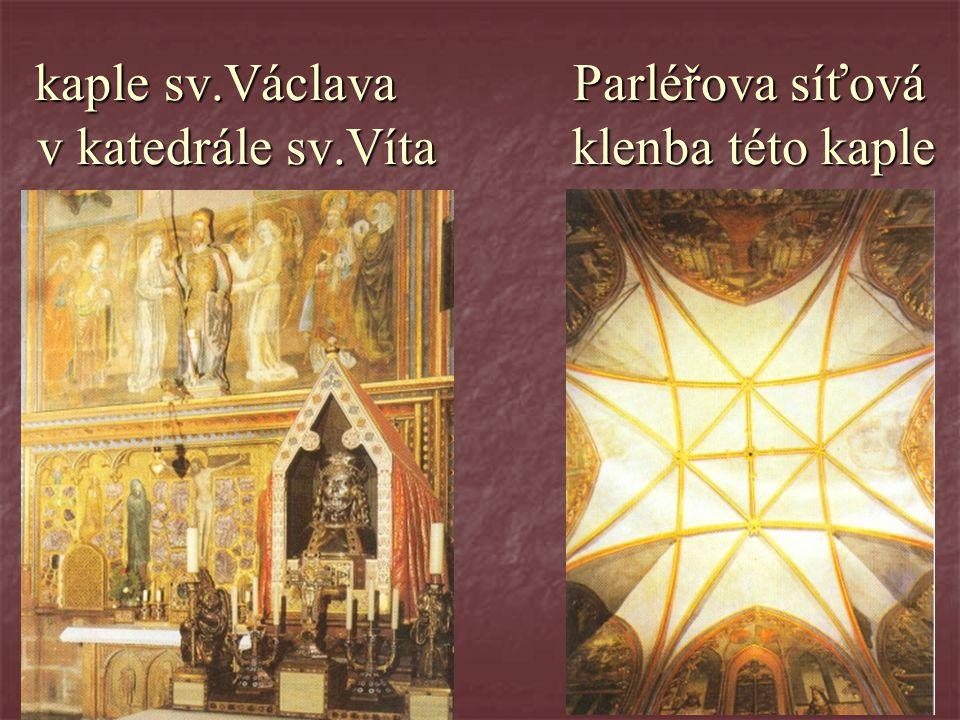 kaple sv. Václava Parléřova síťová v katedrále sv