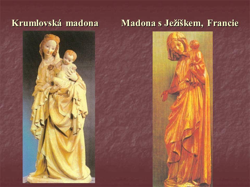 Krumlovská madona Madona s Ježíškem, Francie
