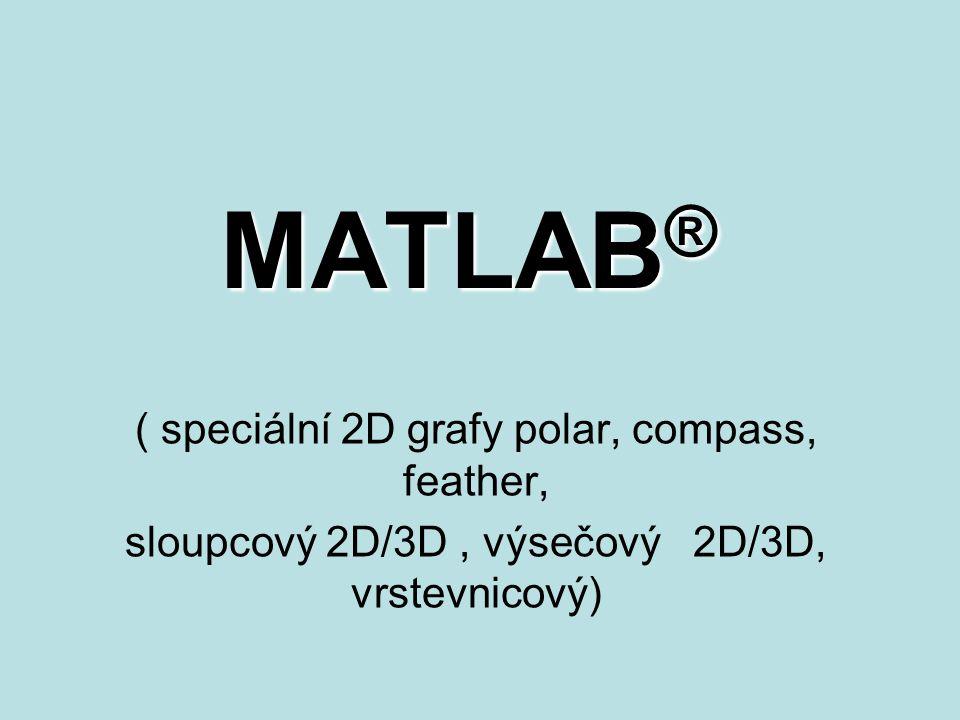 MATLAB® ( speciální 2D grafy polar, compass, feather,